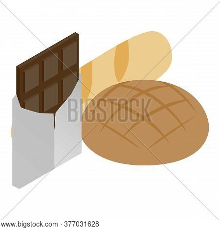 Traditional Food Icon. Isometric Illustration Of Traditional Food Vector Icon For Web