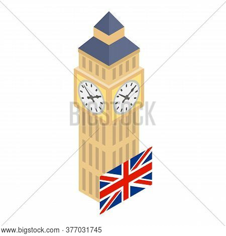 London Landmark Icon. Isometric Illustration Of London Landmark Vector Icon For Web
