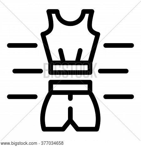 Running Clothes Icon. Outline Running Clothes Vector Icon For Web Design Isolated On White Backgroun