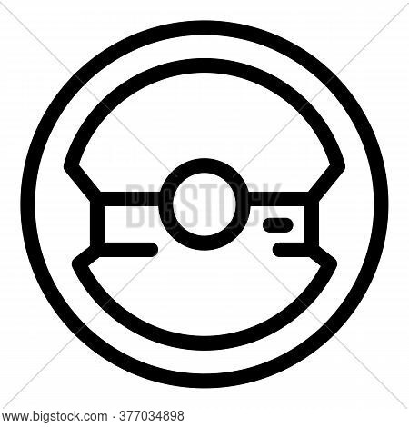 Design Steering Wheel Icon. Outline Design Steering Wheel Vector Icon For Web Design Isolated On Whi