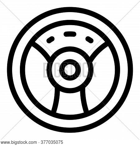 Sport Steering Wheel Icon. Outline Sport Steering Wheel Vector Icon For Web Design Isolated On White