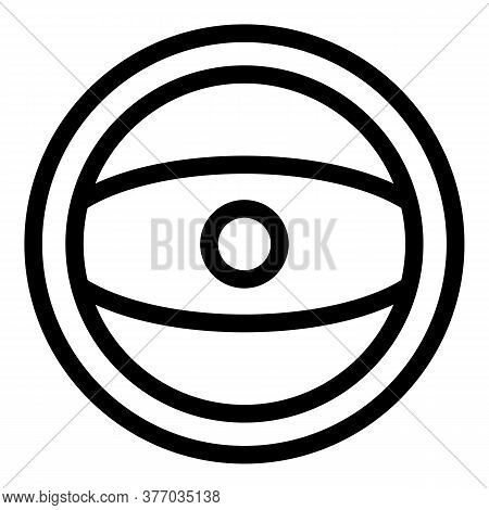 School Steering Wheel Icon. Outline School Steering Wheel Vector Icon For Web Design Isolated On Whi