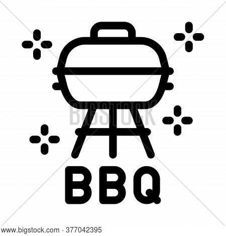 Bbq Equipment Icon Vector. Bbq Equipment Sign. Isolated Contour Symbol Illustration