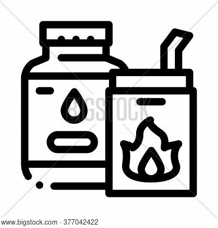 Bbq Liquid For Fire Icon Vector. Bbq Liquid For Fire Sign. Isolated Contour Symbol Illustration