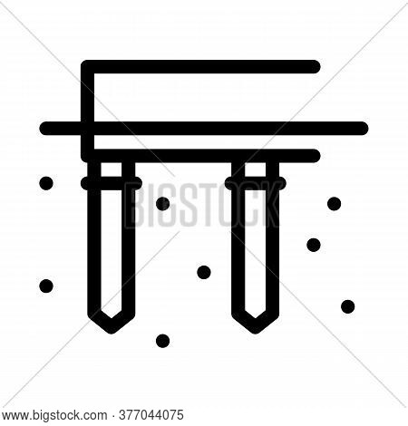 Pile Foundation Icon Vector. Pile Foundation Sign. Isolated Contour Symbol Illustration
