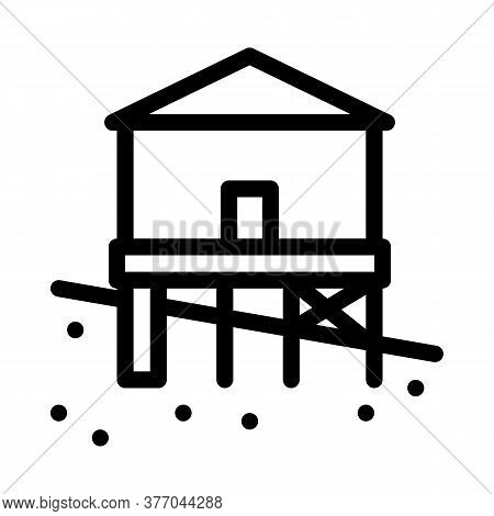 Mixed Type Of Built Foundation Icon Vector. Mixed Type Of Built Foundation Sign. Isolated Contour Sy