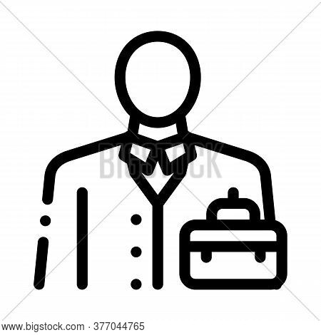Businessman Profession Icon Vector. Businessman Profession Sign. Isolated Contour Symbol Illustratio