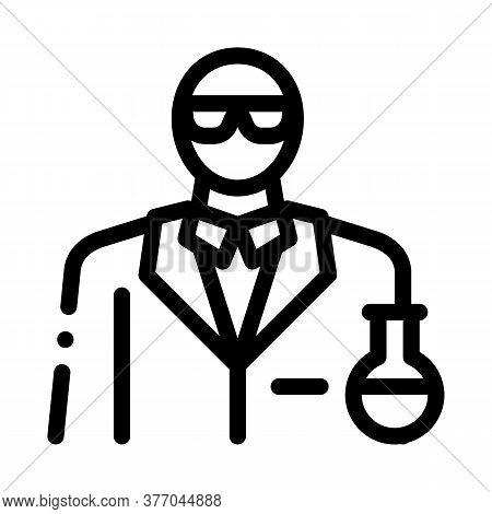 Chemist Profession Icon Vector. Chemist Profession Sign. Isolated Contour Symbol Illustration