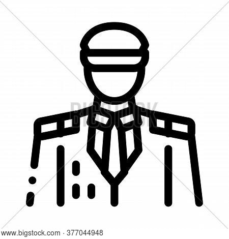 Captain Profession Icon Vector. Captain Profession Sign. Isolated Contour Symbol Illustration