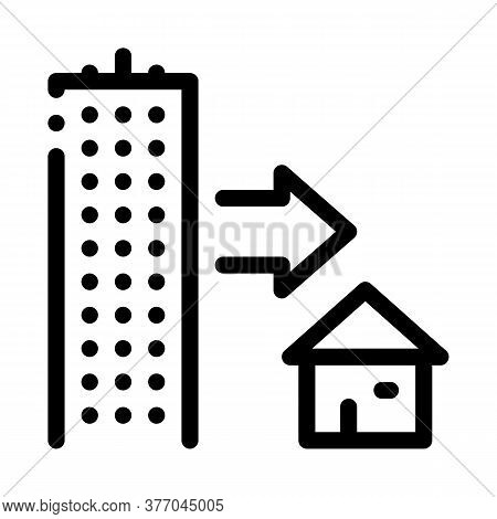 Skyscraper And House Icon Vector. Skyscraper And House Sign. Isolated Contour Symbol Illustration