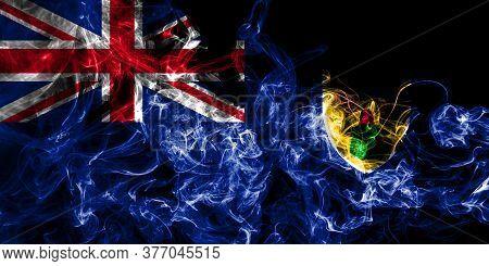Turks And Caicos Islands Smoke Flag, British Overseas Territories, Britain Dependent Territory Flag
