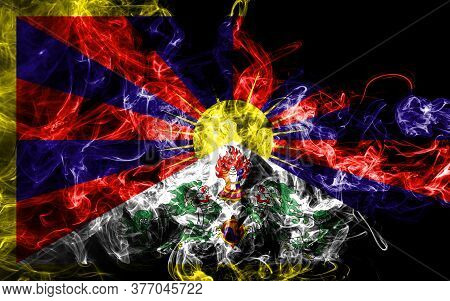 Tibet Smoke Flag, Dependent Territory Flag National Flag Of Smoke