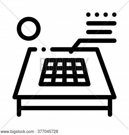Solar Battery On Roof Icon Vector. Solar Battery On Roof Sign. Isolated Contour Symbol Illustration