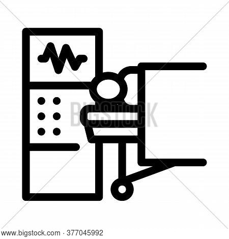 Patient And Surgeon Medical Equipment Icon Vector. Patient And Surgeon Medical Equipment Sign. Isola