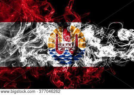 French Polynesia Smoke Flag, Flag Of Smoke
