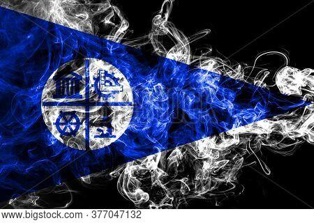 Minneapolis City Smoke Flag, Minnesota State, United States Of America