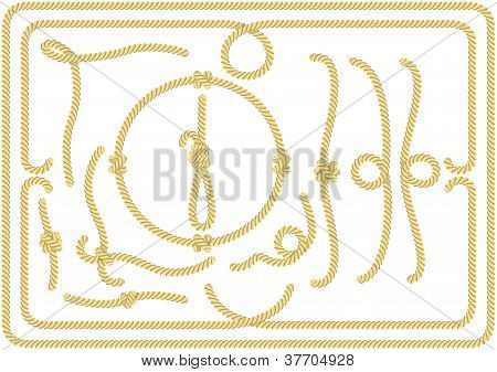 Collection Of Rope Design Elements