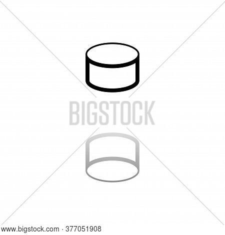Tin Can. Black Symbol On White Background. Simple Illustration. Flat Vector Icon. Mirror Reflection