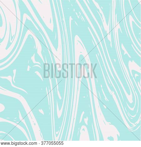 Marble Texture Vector Turquoise Paint Wash Background. Fluid Paint Suminagashi Modern Pattern For Co