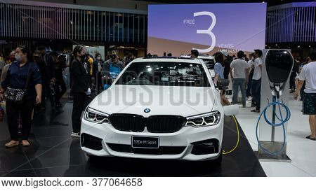Bangkok, Thailand - July 19, 2020: At The Bangkok International Motor Show 2020 Mercedes-benz 530e M