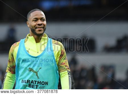 London, England - February 2, 2020: Raheem Sterling Of City Pictured Prior To The 2019/20 Premier Le