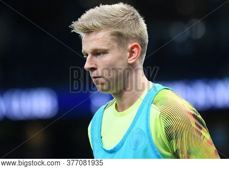 London, England - February 2, 2020: Oleksandr Zinchenko Of City Pictured Prior To The 2019/20 Premie