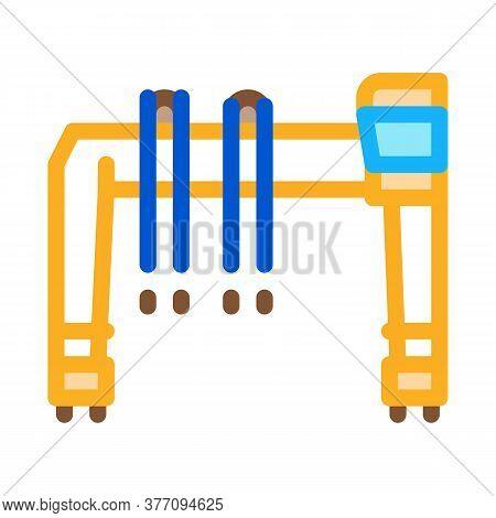 Industry Crane Icon Vector. Industry Crane Sign. Color Symbol Illustration