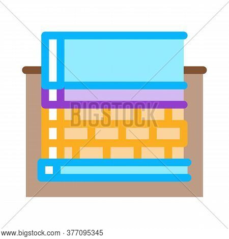 Prefabricated Foundation Icon Vector. Prefabricated Foundation Sign. Color Symbol Illustration