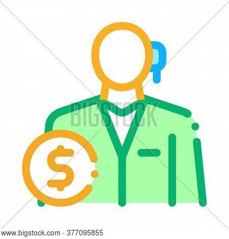 Accountant Profession Icon Vector. Accountant Profession Sign. Color Symbol Illustration