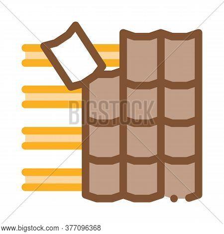 Roof Ceramic Tile Icon Vector. Roof Ceramic Tile Sign. Color Symbol Illustration