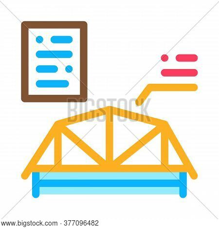 Wooden Roof Skeleton Icon Vector. Wooden Roof Skeleton Sign. Color Symbol Illustration