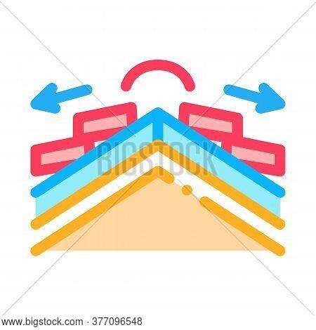 Roof Ceramic Tile Scheme Icon Vector. Roof Ceramic Tile Scheme Sign. Color Symbol Illustration