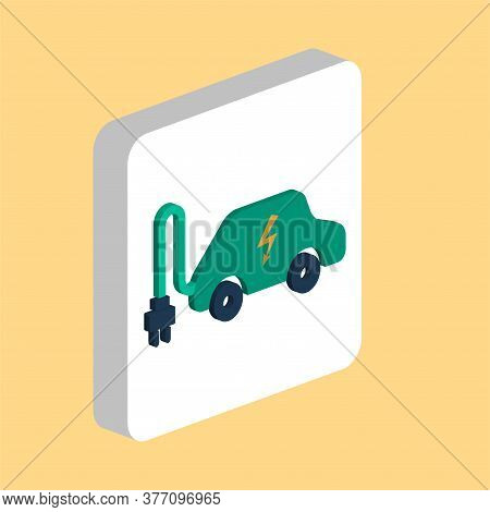 Electric Car Simple Vector Icon. Illustration Symbol Design Template For Web Mobile Ui Element. Perf