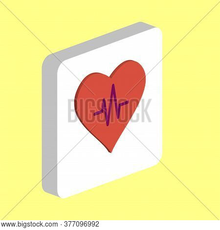 Heart Life Line Simple Vector Icon. Illustration Symbol Design Template For Web Mobile Ui Element. P