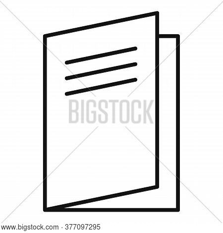 Paper Catalog Icon. Outline Paper Catalog Vector Icon For Web Design Isolated On White Background