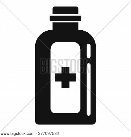 Medical Homeopathy Bottle Icon. Simple Illustration Of Medical Homeopathy Bottle Vector Icon For Web