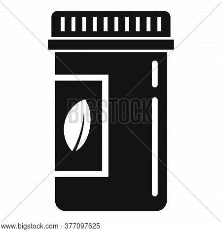 Cosmetic Pill Jar Icon. Simple Illustration Of Cosmetic Pill Jar Vector Icon For Web Design Isolated