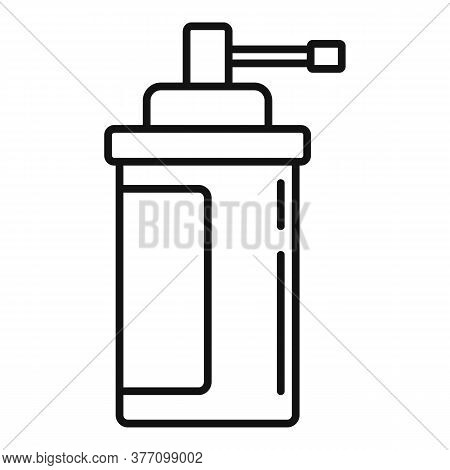 Homeopathy Spray Bottle Icon. Outline Homeopathy Spray Bottle Vector Icon For Web Design Isolated On