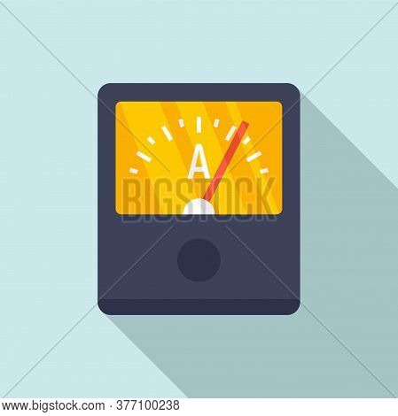 Ampere Meter Device Icon. Flat Illustration Of Ampere Meter Device Vector Icon For Web Design