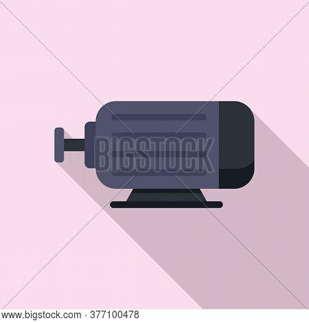 Electric Power Motor Icon. Flat Illustration Of Electric Power Motor Vector Icon For Web Design