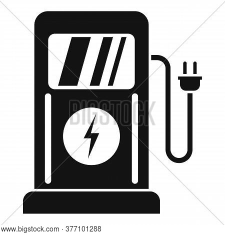 Charge Eletric Station Icon. Simple Illustration Of Charge Eletric Station Vector Icon For Web Desig