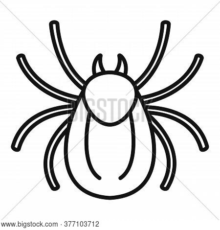 Forest Bug Icon. Outline Forest Bug Vector Icon For Web Design Isolated On White Background