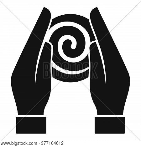Hypnosis Hands Icon. Simple Illustration Of Hypnosis Hands Vector Icon For Web Design Isolated On Wh