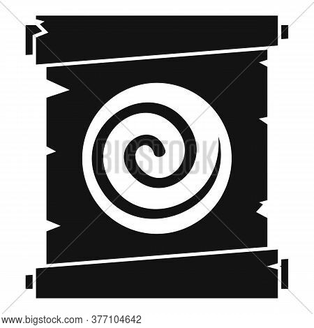 Hypnosis Spiral Papyrus Icon. Simple Illustration Of Hypnosis Spiral Papyrus Vector Icon For Web Des