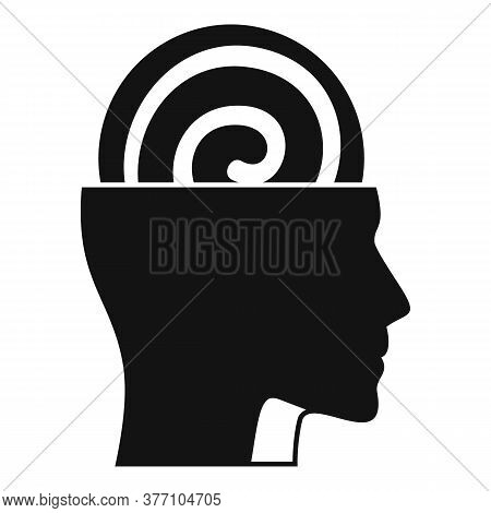 Human Mind Hypnosis Icon. Simple Illustration Of Human Mind Hypnosis Vector Icon For Web Design Isol