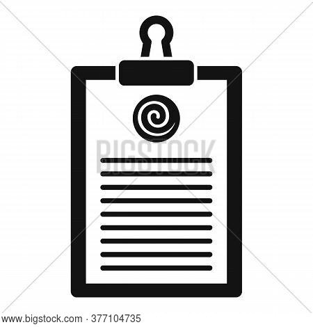 Hypnosis Clipboard Icon. Simple Illustration Of Hypnosis Clipboard Vector Icon For Web Design Isolat
