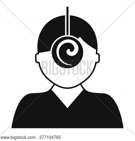 Psychologist Hypnosis Icon. Simple Illustration Of Psychologist Hypnosis Vector Icon For Web Design