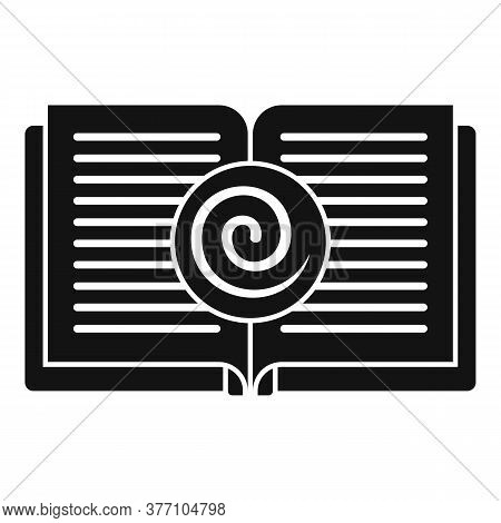 Open Hypnotherapy Book Icon. Simple Illustration Of Open Hypnotherapy Book Vector Icon For Web Desig
