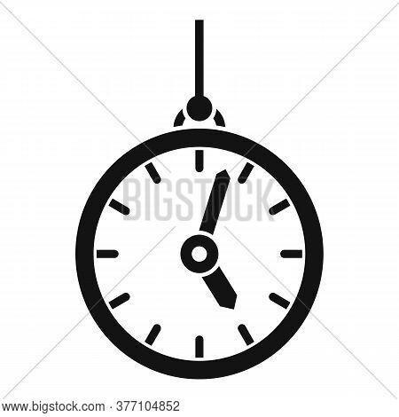 Hypnosis Pendulum Clock Icon. Simple Illustration Of Hypnosis Pendulum Clock Vector Icon For Web Des