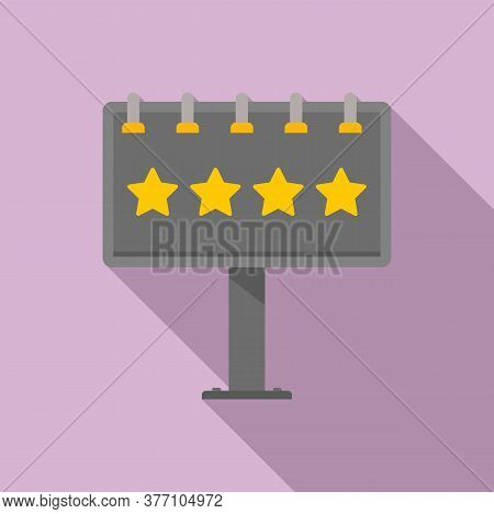 Add Billboard Icon. Flat Illustration Of Add Billboard Vector Icon For Web Design